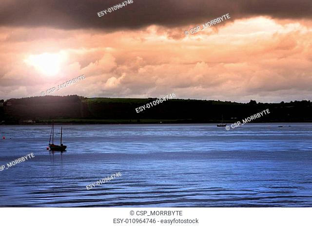 youghal boats at dusk