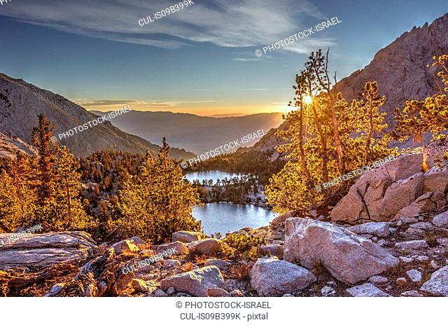 Onion Valley, Sierra Nevada mountain range at sunset, California, USA