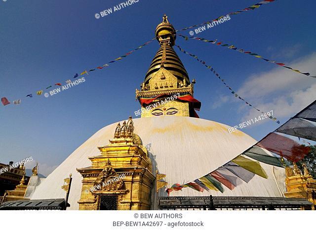 Nepal, Kathmandu, Swayambhunath stupa