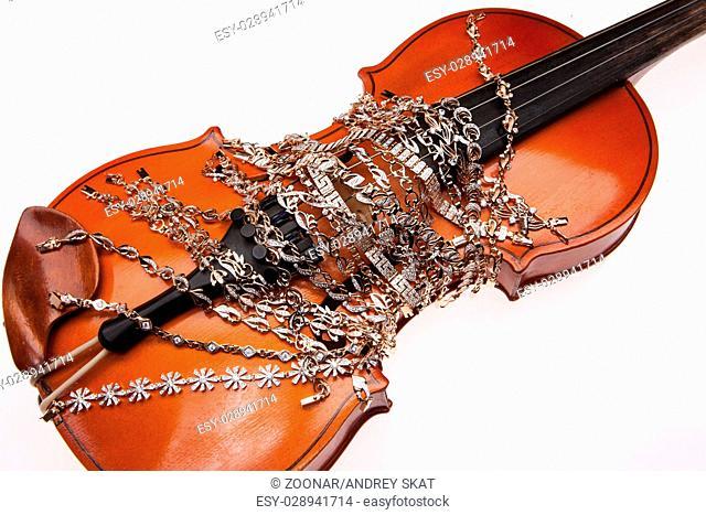 Golden Bracelets And Violin