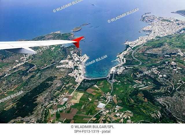 Aerial view over Mallorca, Spain