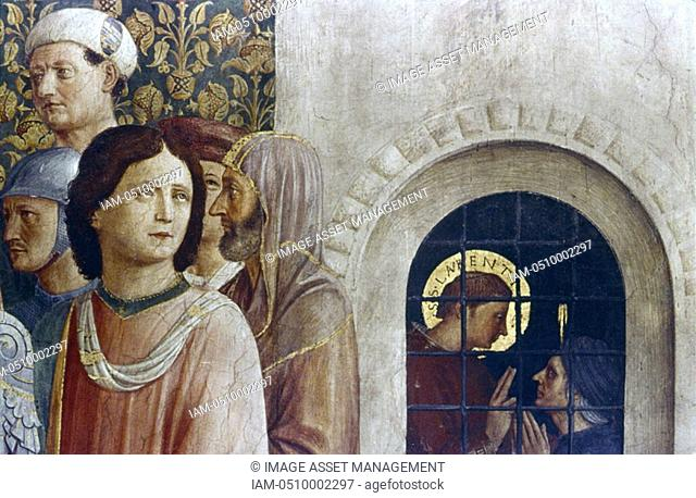 Fra Angelico Guido di Pietro/Giovanni da Fiesole c1400-55 Italian painter  'Judgement of St Lawrence' detail  St Lawrence converting St Hippolytus his jailer...