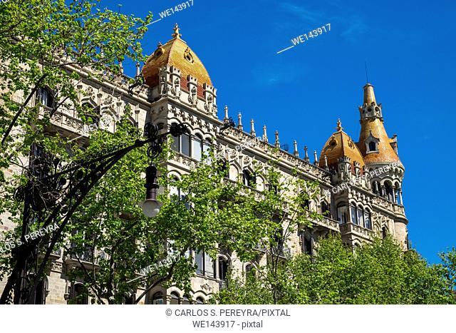 Cases Rocamora, Passeig de Gracia, Plaça de Catalunya, Barcelona, Catalonia, Spain
