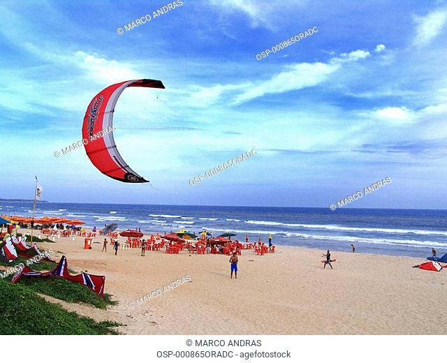 people practicing sky dive at bahia beach