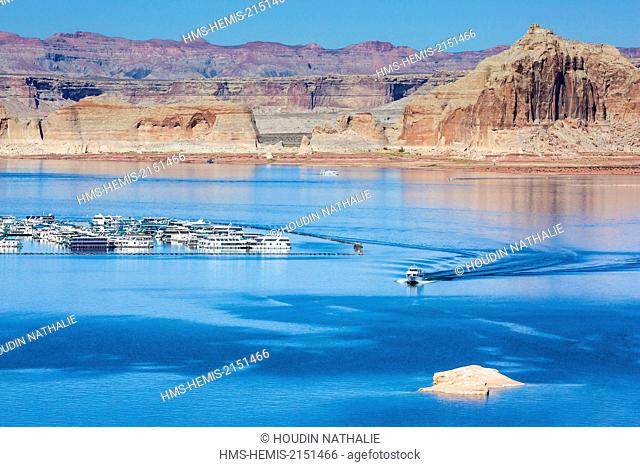 United States, Arizona, Lake Powell, Colorado River, Glen Canyon National Recreation Area