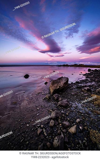 Sunset, Stokksnes, by Hofn and Hornafjordur, Iceland