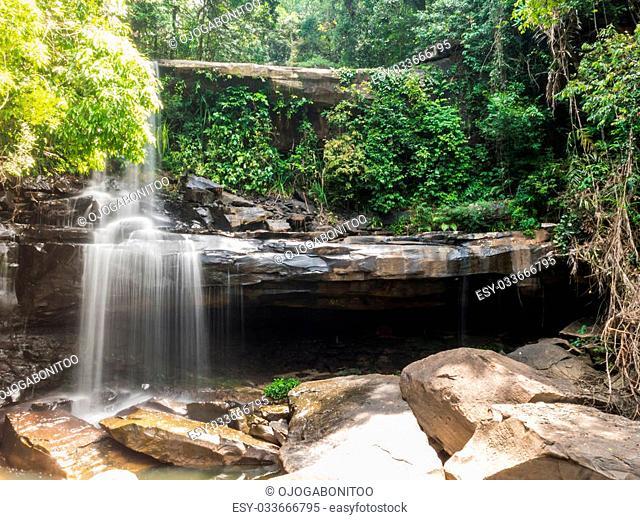 Little rainforest waterfall at Koh Kood, Trat, Thailand