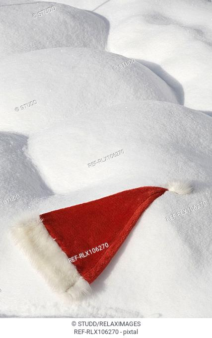 Santa Claus hat in snow