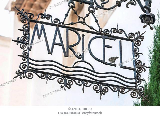 Palau Maricel (Maricel Palace) loacted in Sitges, Spain
