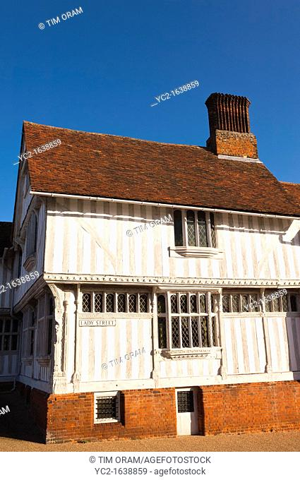 The Guildhall in Lavenham , Suffolk, England , Britain , Uk