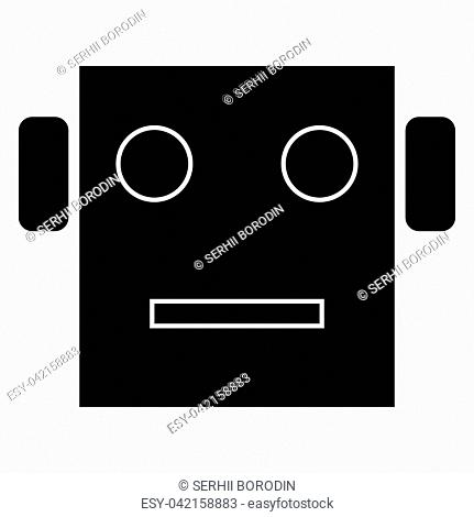 Robot head it is the black color icon
