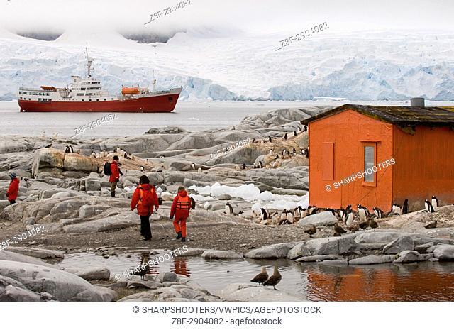 Antarctica, Antarctic Peninsula, Lemaire Channel, Petermann Island, Antarctic Dream ship. MR