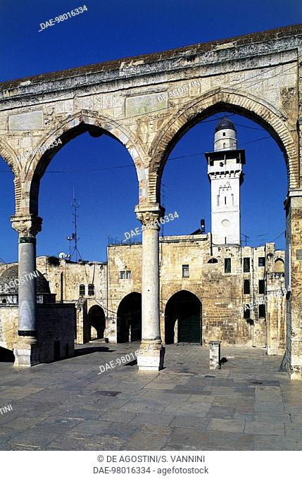 The arches to the Temple Mount or the al-Haram al-Sharif (Noble Sanctuary), Old City of Jerusalem (UNESCO World Heritage List, 1981), Israel