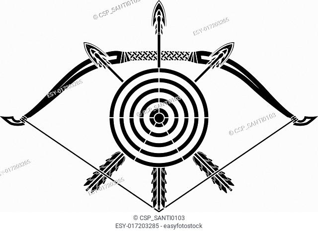 Bow And Arrow Target Board Stock Photos And Images
