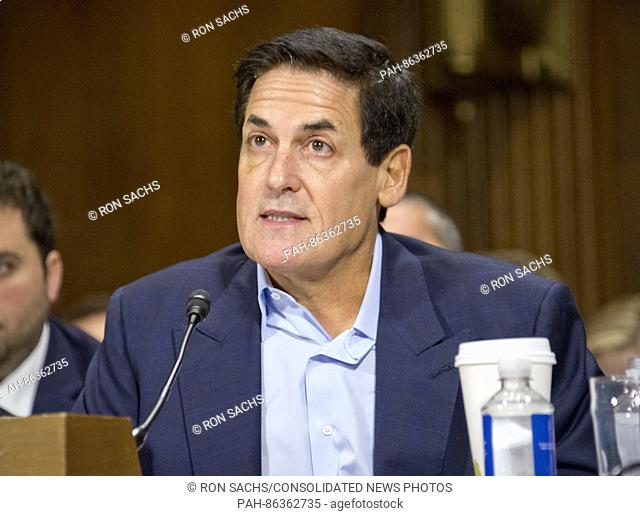 Mark Cuban, Chairman, AXS TV, Owner, Dallas Mavericks, Landmark Theatres, and Magnolia Pictures, gives testimony before the United States Senate Committee on...