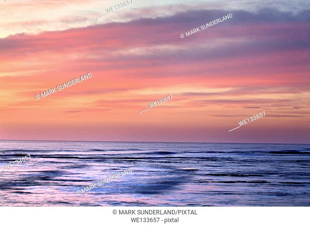 Dawn Sky over the North Sea Amble by the Sea Northumberland England