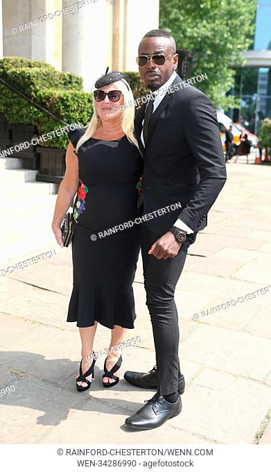 The funeral of Dale Winton at The Old Church in Marylebone, London Featuring: Vanessa Feltz, Ben Ofoedu Where: London, United Kingdom When: 22 May 2018 Credit:...