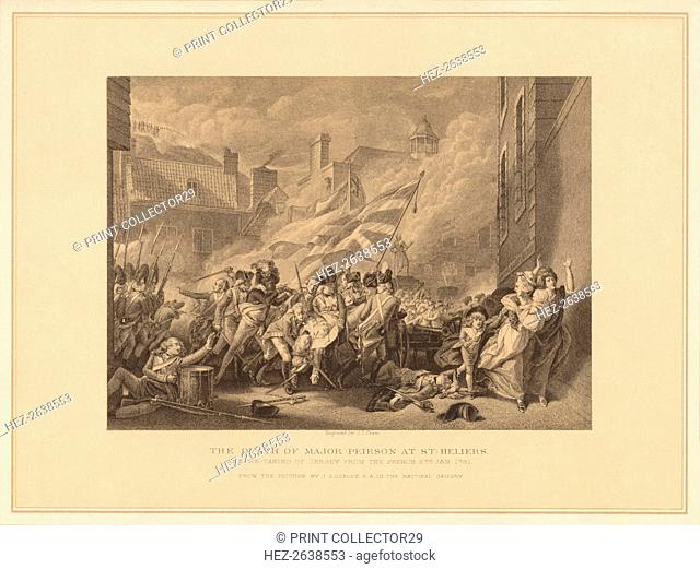 'The Death of Major Peirson at St. Heliers', 1781 (1878). Artist: JJ Crew