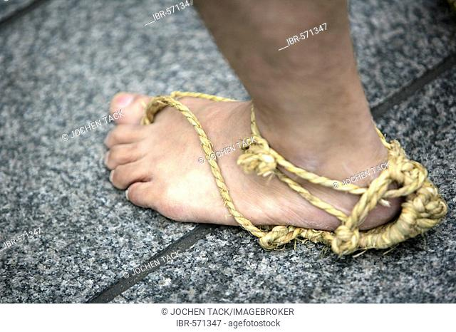 Sandal made of rope, Matsuri Shrine festival, Asakusa Jinja Shrine, Tokyo, Japan, Asia