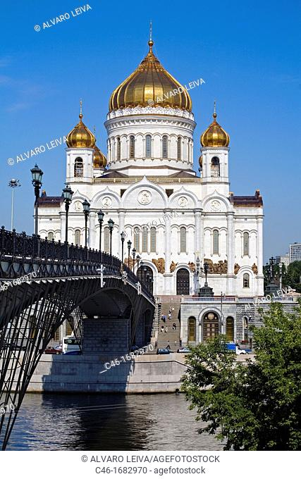 Cathedral of Christ the Saviour, Moscow River, Moscow  Russia
