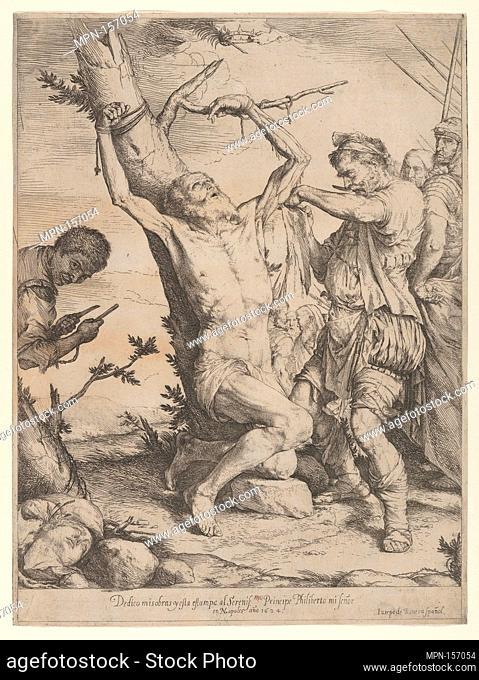 The Martyrdom of Saint Bartholomew. Artist: Jusepe de Ribera (called Lo Spagnoletto) (Spanish, Jótiva 1591-1652 Naples); Date: 1624; Medium: Etching and...