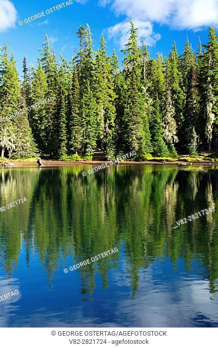 Lava Camp Lake, McKenzie Pass-Santiam Pass National Scenic Byway, Deschutes National Forest, Oregon