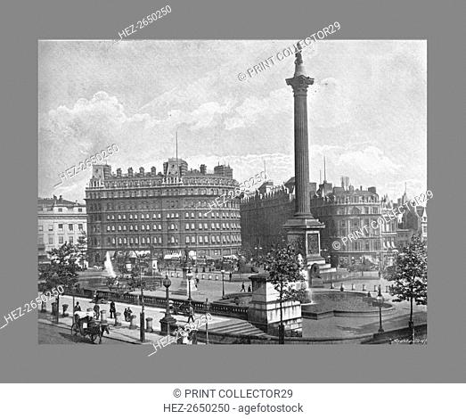 Trafalgar Square, London, c1900. Artist: York & Son