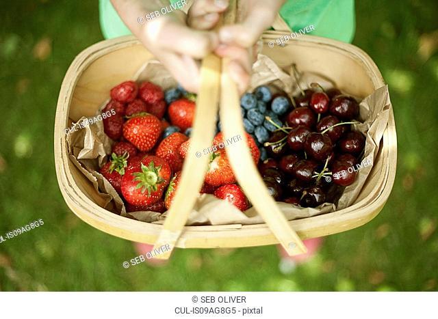 Garden trug of assorted berries