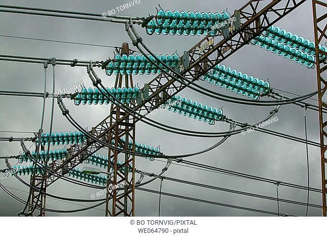 Electric transformer station, power, power lines