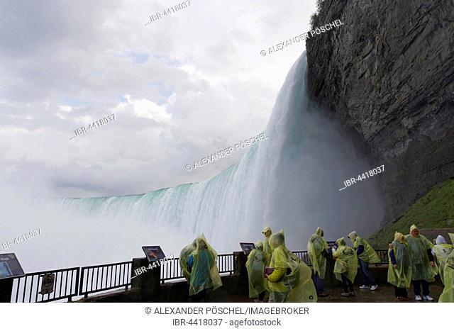 Journey Behind the Falls, platform, Horseshoe Fall, Falls View, Niagara Falls, Ontario, Canada