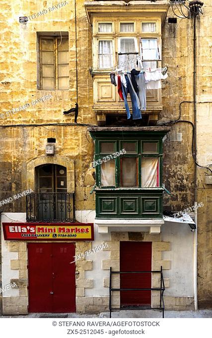 Building facade in Valletta - Malta
