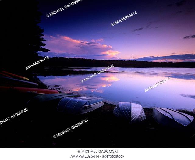Lower Lake, Sunset, Promised Land SP, Poconos, Pennsylvania