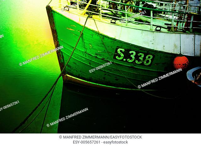 Ireland series in detail. Fishing boat in the harbor