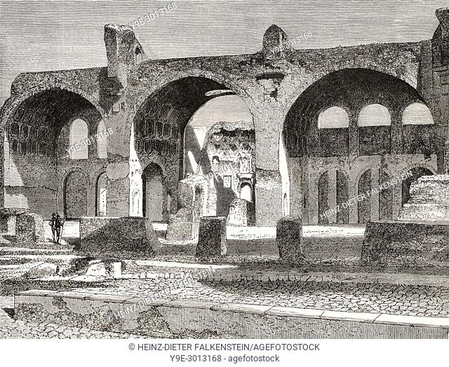 The Basilica of Maxentius and Constantine, Rome, Italy, 19th Century