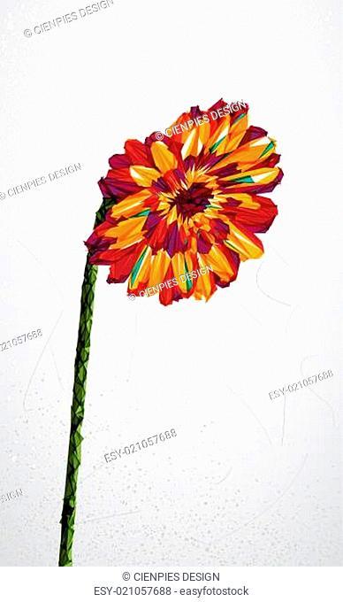 Geometric colorful flower transparency shape