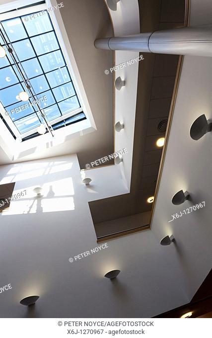Entrance foyer atrium to Portsmouth Grammar School New Science Block