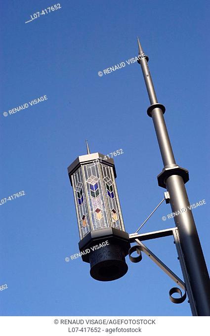 Decorative street lamp. Los Angeles. California. United States
