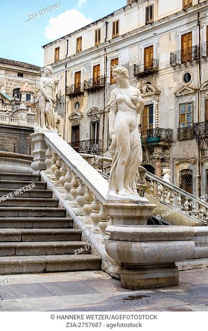 Piazza Pretoria, Palermo, Sicily, Italy, Europe