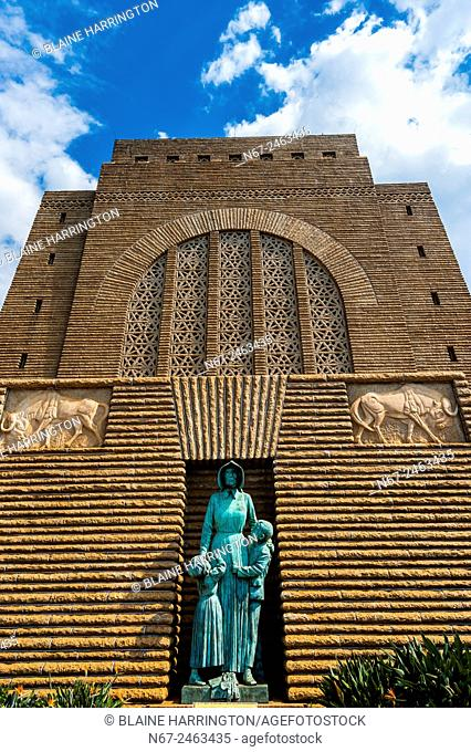 Voortrekker Monument, Pretoria (Tshwane), South Africa. This massive granite structure is prominently located on a hilltop