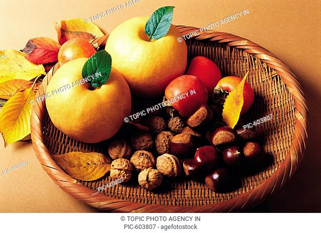 Pears,Walnuts,Persimmons And Chestnuts