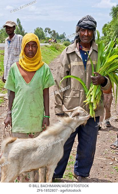 Shashemene Ethiopia Africa Alaba tribe portrait of local womanand man farmers 9
