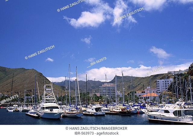 Yacht harbour in San Sebastian, La Gomera, Canary Islands, Spain
