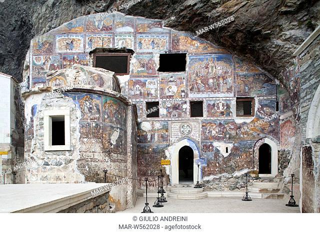 monastery of the virgin mary, sumela, trabzon, turkey