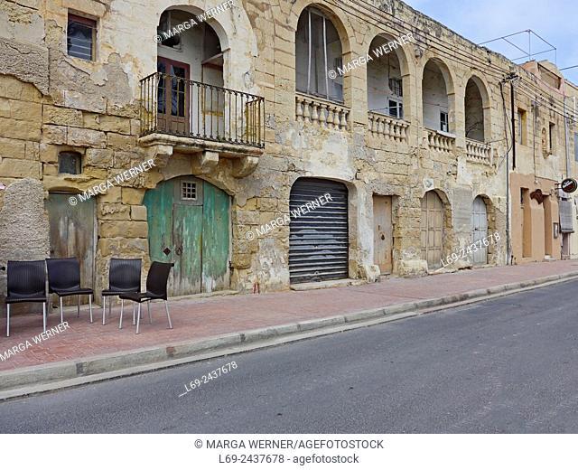 Marsaxlokk, fishing village, Building at the harbor, Island Malta, Mediterranean Sea