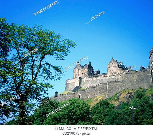 Edinburgh Castle, West side. Edinburgh. Scotland