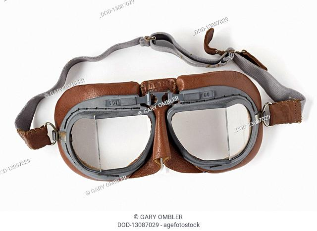 Type VIII flying goggles as worn by RAF fighter pilots during World War Two