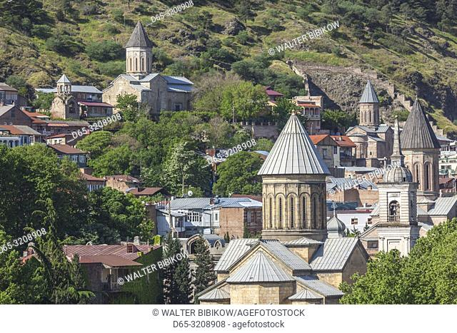 Georgia, Tbilisi, Old Town view, morning