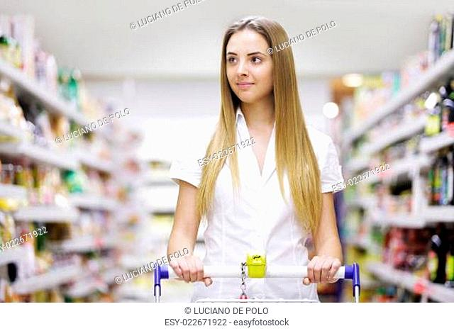 Beautiful Blonde at the supermarket