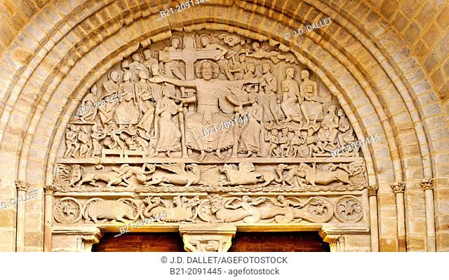 France. Limousin-Corréze. Beaulieu sur Dordogne.The most notable feature of the church is the elaborately sculpted south portal, particularly the tympanum