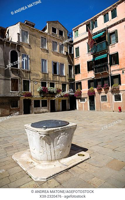 Water well. Campo Silvestro. Venice, Italy